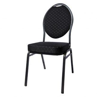 Banquet stol stål svart