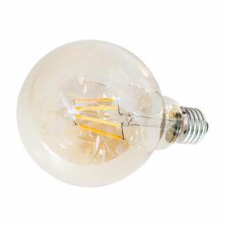 LED dimbar glob Amber E27 4W Ø95mm